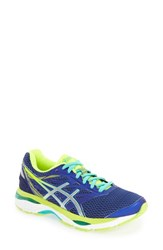 Asicsr Women's Asics 'Gel Cumulus 18' Running Shoe Blue Silver Safety Yellow