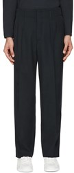 Christophe Lemaire Navy Carrot Trousers