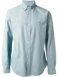 Polo Ralph Lauren Button Down Collar Shirt Blue