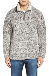 True Grit Men's High Pile Quarter Zip Pullover Charcoal