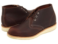 Red Wing Shoes Work Chukka Briar Oil Slick Men's Lace Up Boots Mahogany