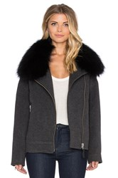 Mackage Felipa Jacket With Asiatic Raccoon Fur Gray