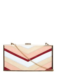 Dorothy Perkins Mix Panelled Box Clutch Bag Multi Coloured