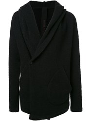 Forme D'expression Hooded Knit Cardigan Black