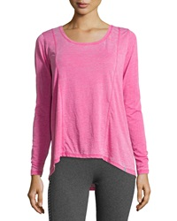Marc Ny Performance Distressed Long Sleeve Tee Rose