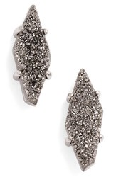 Kendra Scott Women's 'Brooke' Stud Earrings Platinum Drusy Silver