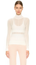 Narciso Rodriguez Long Sleeve Pullover White