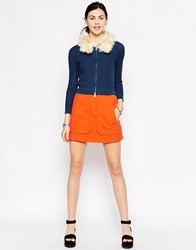 Antipodium Perpetua Pelmet Mini Skirt Orange
