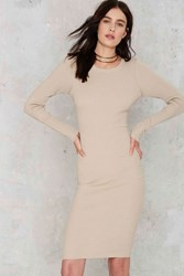 Nasty Gal Knit Your Stride Ribbed Midi Dress
