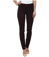 Nydj Alina Legging Super Stretch Denim Brandy Wine Women's Jeans Burgundy