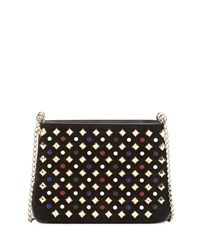 Christian Louboutin Triloubi Small Spiked Shoulder Bag Black Multi