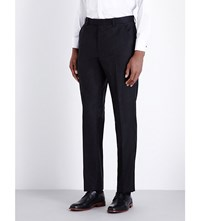 Ted Baker Pashion Tapered Floral Jacquard Wool Trousers Black