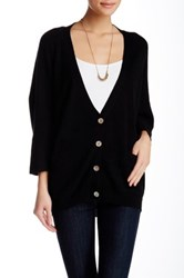 Lulu Solid Dolman Sleeve Cardigan Black