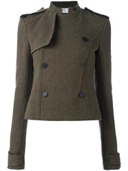 Haider Ackermann Double Breasted Cropped Jacket Green