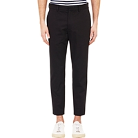 Agnes B. X Barneys New York Twill Cropped Trousers Black