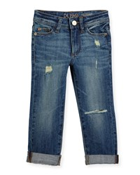 Dl Premium Denim Harper Distressed Boyfriend Jeans Meerkat