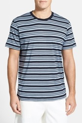Daniel Buchler Silk And Cotton Crewneck T Shirt Blue