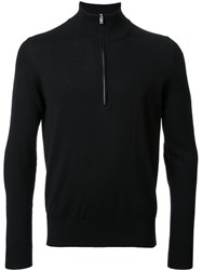 Maison Martin Margiela Quarter Zip Knitted Sweater Black