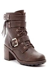 Chase And Chloe Benson Combat Boot Brown