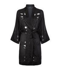 Carine Gilson Silk And Lace Kimono Female Black