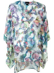 Just Cavalli Seashell Print Kaftan White