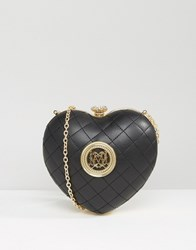 Love Moschino Structured Heart Cross Body Bag Black