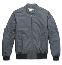 Marni Cotton Bomber Jacket Gray