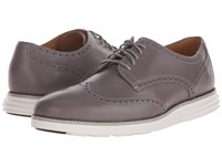Cole Haan Original Grand Wingtip Cloudburst Optic White Men's Lace Up Wing Tip Shoes Gray