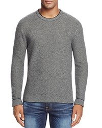 Bloomingdale's The Men's Store At Wool And Cashmere Blend Crewneck Sweater Forest Green Silver Grey Med Heather Green