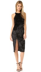 Re Named Two Fer Slit Dress Black