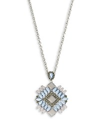 Catherine Stein Rhinestone Pendant Necklace Blue