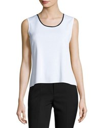 Ming Wang Scoop Neck Knit Tank Wtn