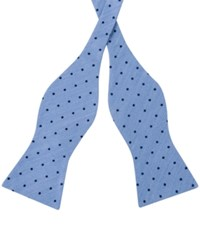 Tommy Hilfiger Men's Dot Print To Tie Bow Tie Blue