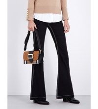 Burberry Flared Mid Rise Jeans Black