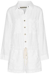 Enza Costa Linen Playsuit White