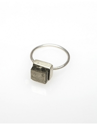 Pyrite Cube Ring Small