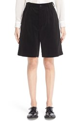 Comme Des Garcons Women's Cotton Velveteen Shorts