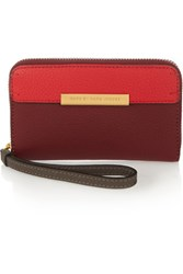 Marc By Marc Jacobs Wingman Two Tone Leather Wallet Red