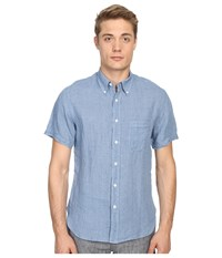 Billy Reid Short Sleeve Tuscumbia Shirt Iris