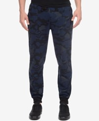 2Xist 2 X Ist Athleisure Men's Terry Jogger Sweatpants Blue Camo