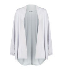 Giorgio Grati Shawl Collar Batwing Cardigan Female Light Grey