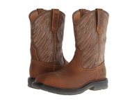 Ariat Maverick Wide Square Toe H20 Ct Aged Bark Army Green Cowboy Boots Brown
