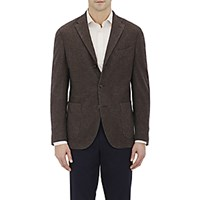 Boglioli Men's Flannel Three Button Sportcoat Grey