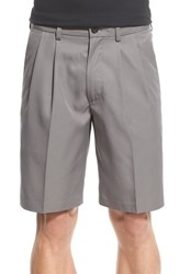 Nordstrom Men's Men's Shop 'Classic' Pleated Performance Shorts Grey Shade