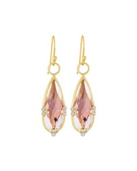 Jude Frances Judefrances Jewelry 18K Teardrop Amethyst And Diamond Earring Charms Women's