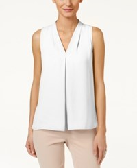 Vince Camuto Sleeveless Inverted Pleat Blouse Ivory
