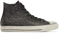 Converse Black Leather Studded High Top