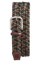 Torino Belts Men's Big And Tall Woven Leather Belt Green