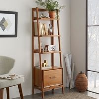 Mid Century Bookshelf Narrow Tower West Elm