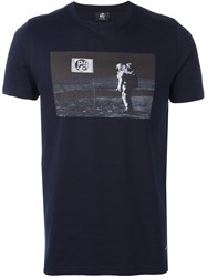 Paul Smith Ps By Printed T Shirt Blue
